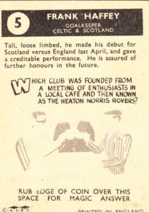 1960-61 A&BC Frank Haffey back