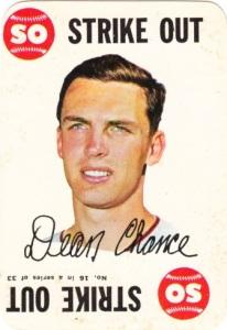 1968 Topps Game Dean Chance