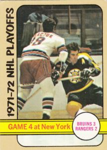1972-73 Topps Hockey Bruins Rangers Game 4