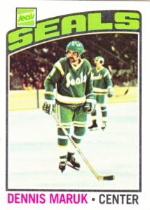 1976-77 Topps Hockey Dennis Maruk