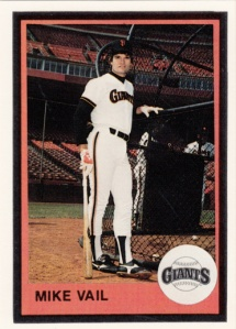 1983 Mother's Cookies Giants Mike Vail