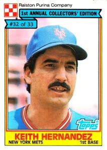 1984 Topps Ralston Purina Keith Hernandez