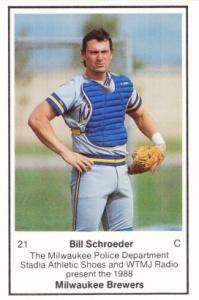 1988 Brewers Police Bill Schroeder