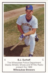 1988 Brewers Police BJ Surhoff