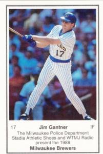 1988 Brewers Police Jim Gantner