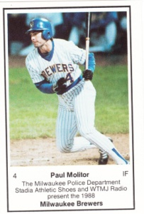 1988 Brewers Police Paul Molitor
