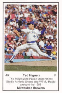 1988 Brewers Police Teddy Higuera