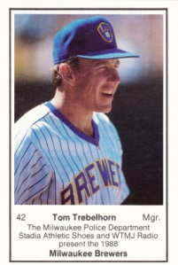 1988 Brewers Police Tom Trebelhorn