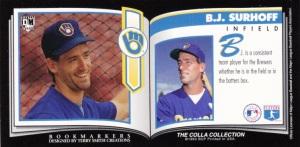 1993 Colla Collection DiamondMarks BJ Surhoff back