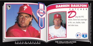 1993 Colla Collection DiamondMarks Darren Daulton back