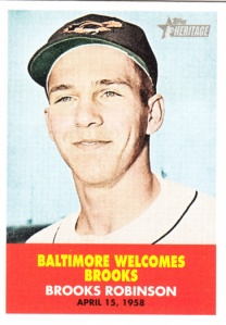 2007 Topps Heritage Flashbacks Brooks Robinson