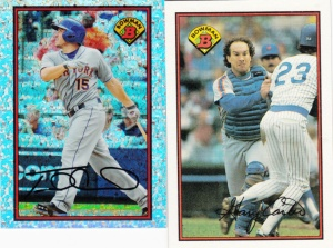 2014 Bowman Is Back d'Arnaud and 1989 Bowman Carter
