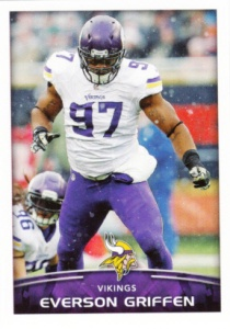 2015 Panini NFL Stickers _Everson Griffen
