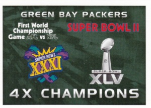 2015 Panini NFL Stickers Packers Championships