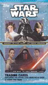 2015 Topps Star Wars The Journey To wrapper