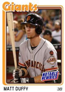 2015 TSR #280 - Matt Duffy (Giants)