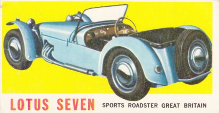 1961 Topps Sports Cars Lotus Seven