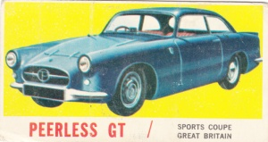 1961 Topps Sports Cars Peerless GT