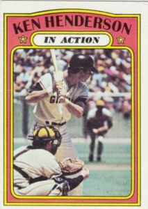 1972 Topps Ken Henderson IA