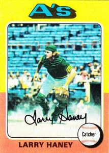 1975 Topps Larry Haney