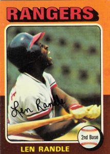 1975 Topps Len Randle