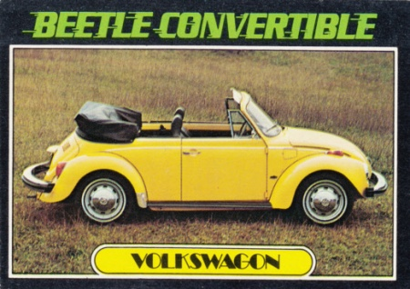 1976 Topps Autos Of 1977 Beetle Convertible