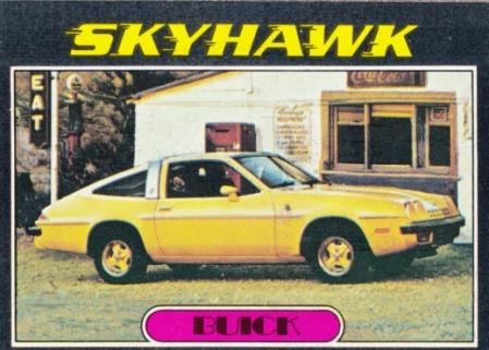 1976 Topps Autos Of 1977 Skyhawk