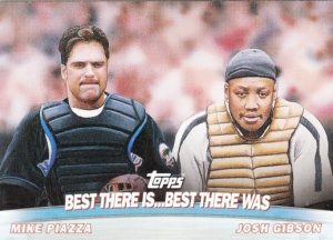 2001 Topps Combos Piazza Gibson