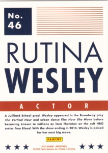 2015 Panini Americana Rutina Wesley back