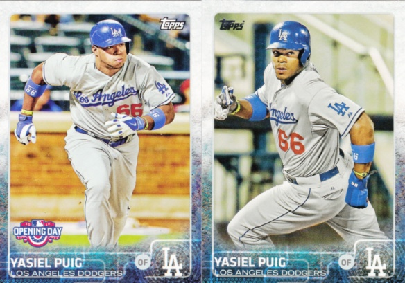 2015 Topps and Opening Day Yasiel Puig