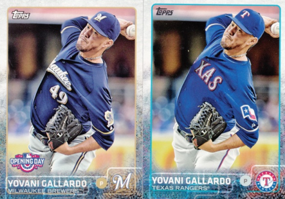 2015 Topps and Opening Day Yovani Gallardo