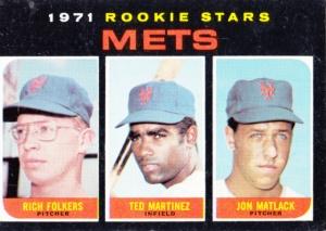 1971 Topps Mets Rookie Stars