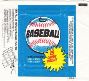 1980 Topps baseball wrapper