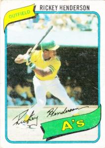 1980 Topps Rickey Henderson