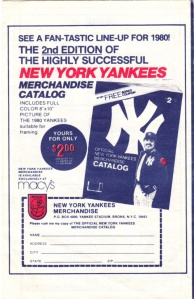 1980 Yankees schedule back