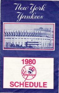 1980 Yankees schedule
