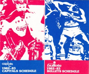 1982-83 Capitals Bullets schedule