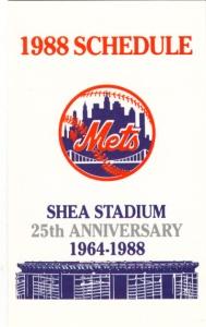 1988 Mets schedule