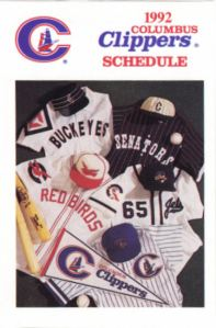 1992 Columbus Clippers schedule