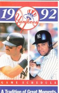 1992 Yankees schedule