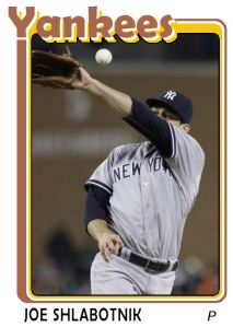 2015 TSR #296 - Joe Shlabotnik Yankees