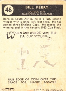 1960-61 A&BC Bill Perry back