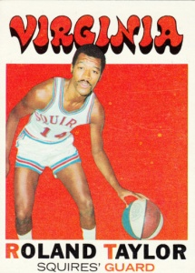 1971-72 Topps Basketball Roland Taylor