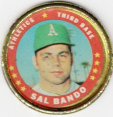 1971 Topps Coin Sal Bando
