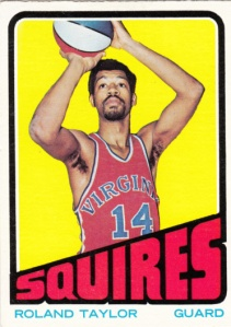 1972-73 Topps Basketball Roland Taylor