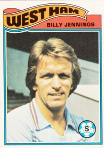 1978 Topps MLS English Footballer Billy Jennings