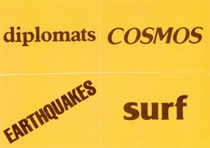 1979 Topps NASL Soccer Stickers Diplomats Cosmos Earthquakes Surf