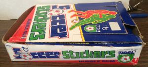 1979 Topps NASL Soccer Stickers wax box side