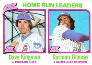 1980 Topps HR Leaders