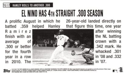 2011 Lineage 1964 Giants Hanley Ramirez back